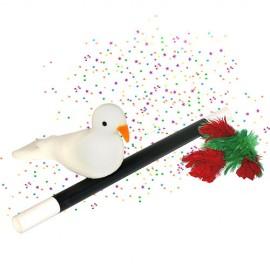 Apparition d'un bouquet de fleurs et d'une colombe / Wand to Dove