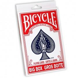 Big box – Jeu de cartes Bicycle rouge