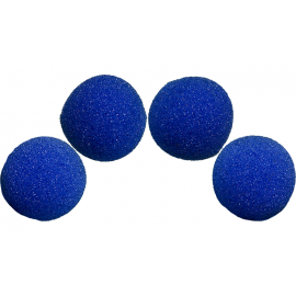 4 Balles mousse Super Soft BLUE  Magic by Gosh (2 inch)