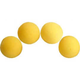 4 Balles mousse Super Soft JAUNE  Magic by Gosh (2 inch)