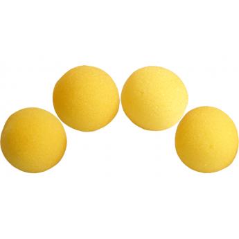 4 Balles mousse Super Soft JAUNE  Magic by Gosh (2 inch)