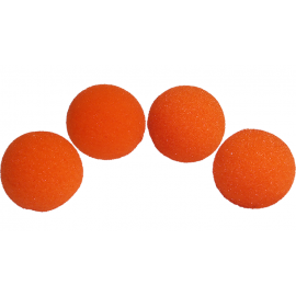 4 Balles mousse Super Soft ORANGE  Magic by Gosh (2 inch)