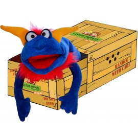 Marionnette ventriloque Crazy Bleu W717