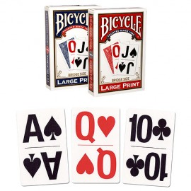 JEUDE CARTES BICYCLE LARGE PRINT