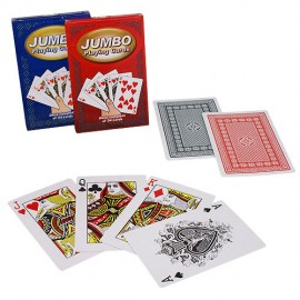 JEU DE CARTES GEANTES ( BLUE) / JUMBO PLAYING CARDS