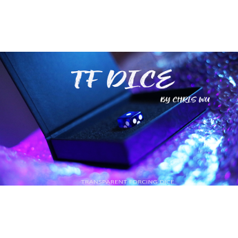 TF DICE Transparent Forcing Dice Blue - Chris Wu