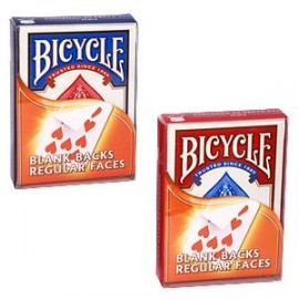 JEU DE 54 CARTES BICYCLE ROUGE : DOS BLANC/ FACE NORMALE