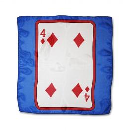 """Foulard à la carte ace de pique bleu 12"""" ( 30 cm )"""